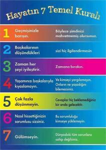 Hayatın 7 Temel Kuralı